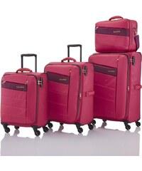 Travelite Kite 4w S,M,L Pink – sada 3 kufrů + BB
