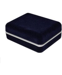 Manžetové-Knoflíčky.EU Krabička na manžetové knoflíčky - tmavě modrá semiš