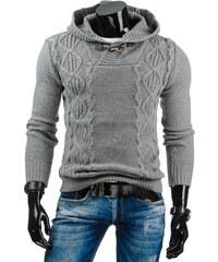 streetIN Šedý pánský svetr s kapucí Velikost: M