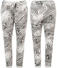 streetIN Dámské kalhoty - šedo-smetanová Velikost: Univerzální