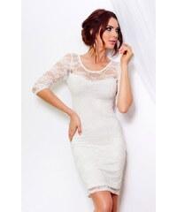 SAF Dámské šaty Luxusní krajka bílé