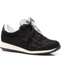 Vices botasky s krajkou Destiny černé