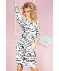 SAF Dámské šaty Samá novinka úzké bílé
