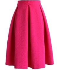 CHICWISH Dámská sukně Midi Hot Pink!