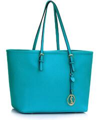 LS fashion LS dámská prostorná kabelka 297 tyrkysová