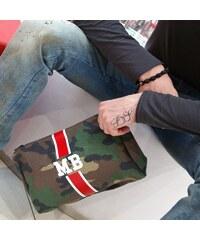 Mia Bag Kosmetická Army taška (unisex)- červený pás