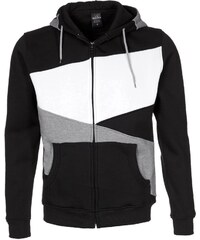 Urban Classics ZIG ZAG Sweatjacke black/grey/white