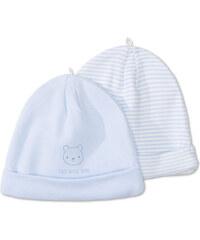 C&A Baby 2er Pack Baby-Mützen aus Bio-Baumwolle in Blau / weiß