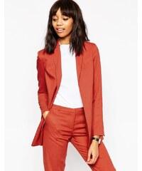 ASOS Premium - Long blazer de costume avec ceinture - Rouge