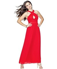 Guess Šaty Crossover Pleated Maxi Dress