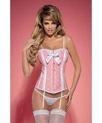 OBSESSIVE Dámský korzet Dottie corset pink