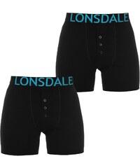 Boxerky Lonsdale 2 Pack Black/Brt Blue