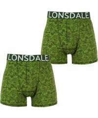 Boxerky Lonsdale 2 Pack Green Digi Camo