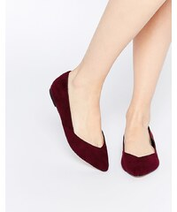 ASOS - LUCY - Ballerines plates pointure large - Rouge