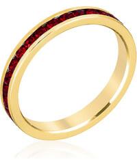 LYRA Prsten s červenými Swarovski krystaly R01147G-V13