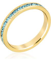 LYRA Prsten s modrými Swarovski krystaly R01147G-V32