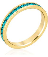 LYRA Prsten s modrými Swarovski krystaly R01147G-V39