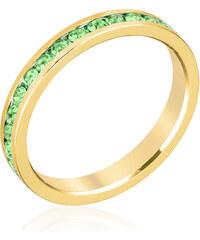 LYRA Prsten se zelenými Swarovski krystaly R01147G-V41