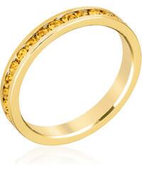 LYRA Prsten se žlutými Swarovski krystaly R01147G-V61