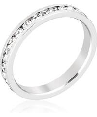 LYRA Prsten s čirými Swarovski krystaly R01147R-C02