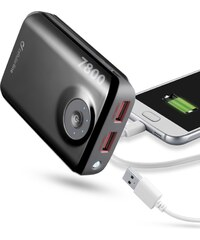Externí baterie pro iPhone a iPad - CellularLine, EMERGENCY FREEPOWER 7800mAh Black