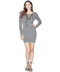 Guess Šaty Long-Sleeve Lace-Up Sweater Dress