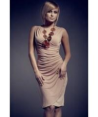 FIGL Dámské šaty M053 béžové