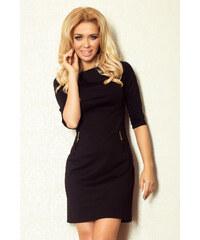 S-a-F Dámské šaty se zipy a 3/4 rukávem krátké SHIM.cz 3816 černé
