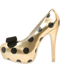 Lola Ramona Plateaupumps gold/black