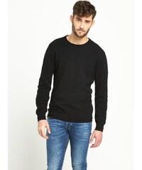 CLOSET Černý žebrovaný svetr