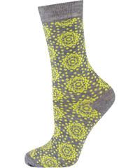SOXO Dámské žluté bambusové ponožky Orient
