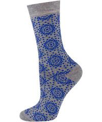 SOXO Dámské modré bambusové ponožky Orient