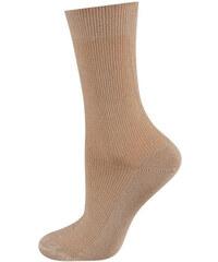 SOXO Dámské světle hnědé ponožky pro diabetiky Valo