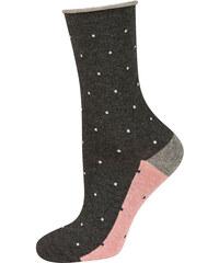 SOXO Dámské tmavě šedé ponožky Milena