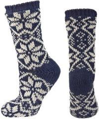 SOXO Dámské tmavě modré pletené ponožky Nordic