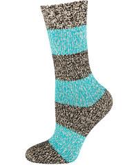 SOXO Dámské modré pletené ponožky Melange