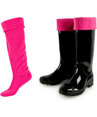 SOXO Dámske růžové podkolenky do gumových holínek Huntie
