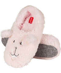 SOXO Dámské růžové pantofle Plush Animal