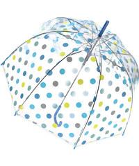 Tom&Eva Modrý transparentní deštník Dots