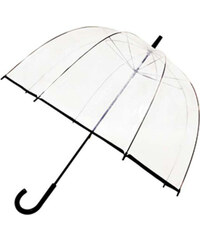 Tom&Eva Černý transparentní deštník Line