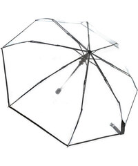 Tom&Eva Černý skládací transparentní deštník Straight line