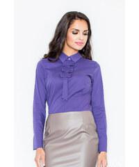 Figl Košile M001 tmavě fialová
