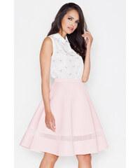 Figl Světle růžová sukně M367