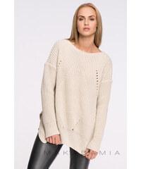 Makadamia Béžový pulovr S33