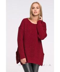 Makadamia Bordový pulovr S33