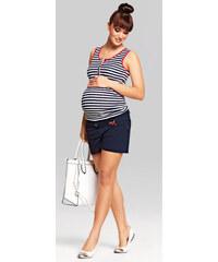 Happymum Tmavě modré těhotenské šortky Marina