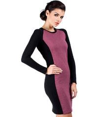 Fialové šaty MOE 037