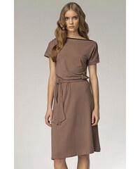 Nife Hnědé šaty s13 6177c18732