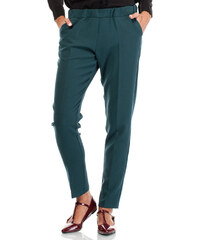 BeWear Tmavě zelené kalhoty BW029