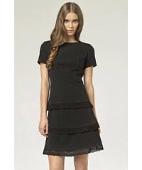 Nife Černé šaty S43